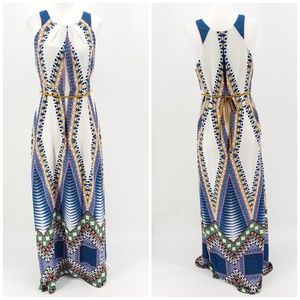 Anthropologie Maeve long multicolor boho dress 2